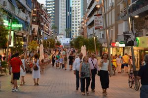 streets benidorm center
